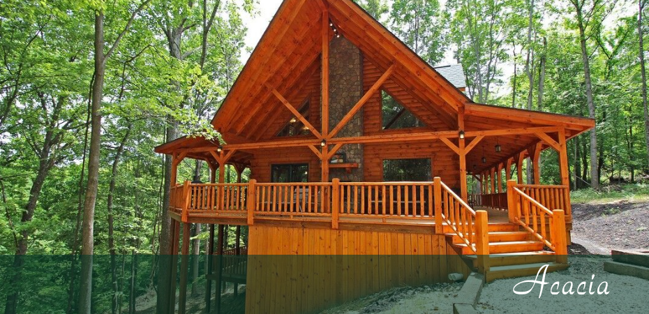 cabin in the woods located in hocking hills ohio