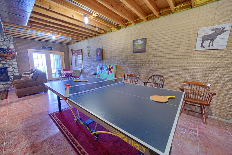 ping pong table, chairs