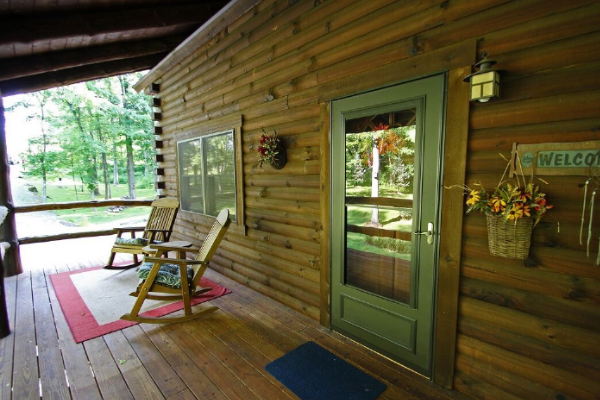 front porch, glass door, 2 rocking chairs