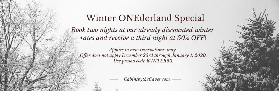 winter cabin rental specials