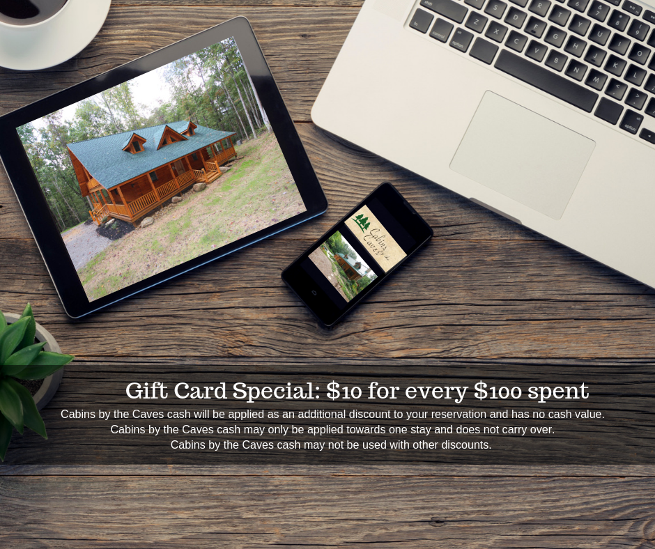 Gift Card Cabin Rental Specials