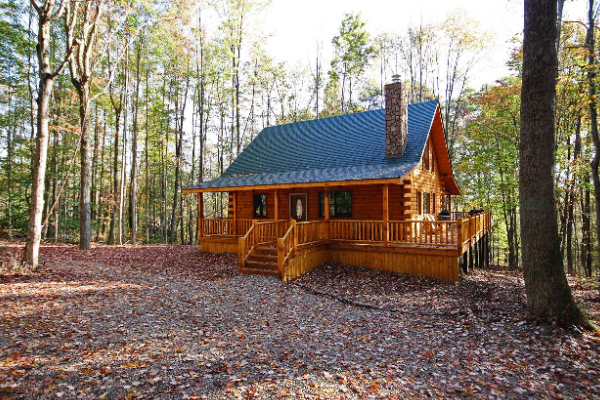 Cabins by the caves fireside the best cave for Little pine cabin hocking hills