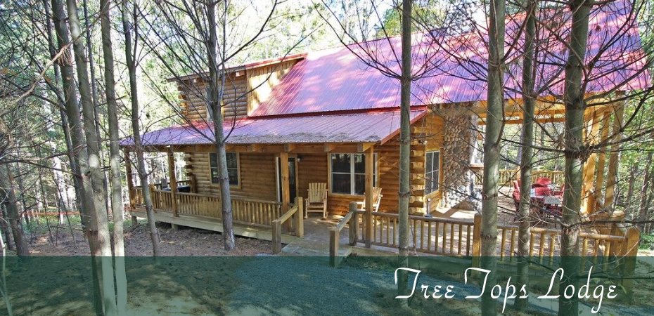 Tree Tops Lodge located in hocking hills ohio